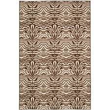 Metropolis Creme / Brown Rug (Set of 3)