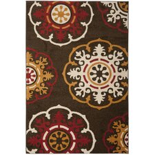 Newbury Brown/Red Area Rug