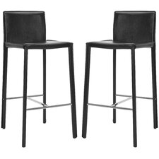 "<strong>Safavieh</strong> Enzo 30"" Bar Stool with Cushion (Set of 2)"
