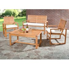 <strong>Safavieh</strong> Ozark 4 Piece Lounge Seating Group