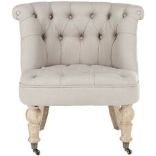 Little Tufted Fabric Slipper Chair