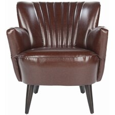<strong>Safavieh</strong> James Leather Chair