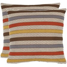 <strong>Safavieh</strong> Leslie Polyester Decorative Pillow (Set of 2)