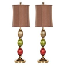Emma Leaf Table Lamp (Set of 2)