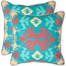 <strong>Safavieh</strong> Rye Polyester Decorative Pillow (Set of 2)