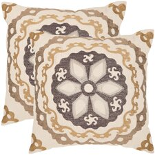 <strong>Safavieh</strong> Thea Linen / Cotton Decorative Pillow (Set of 2)