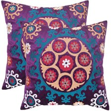 <strong>Safavieh</strong> Vanessa Linen / Cotton Decorative Pillow (Set of 2)