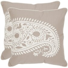 <strong>Safavieh</strong> Paisley Cotton Decorative Pillow (Set of 2)