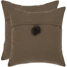 <strong>Safavieh</strong> Moshy Wool / Polyester Decorative Pillow (Set of 2)