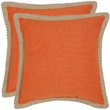 Sweet Sorona Jute Fiber Decorative Pillow (Set of 2)