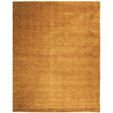 Tibetan Bronze Greek Key Area Rug