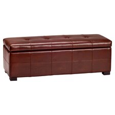 <strong>Safavieh</strong> Maiden Bicast Leather Entryway Storage Ottoman
