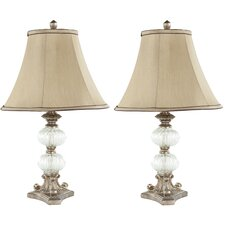 """Scarlett 24"""" H Table Lamp with Bell Shade (Set of 2)"""