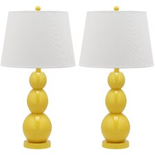 Longview Three Sphere Table Lamp with Drum Shade (Set of 2)