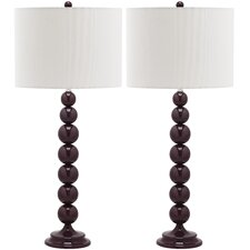 "Jenna Stacked Ball 31"" H Table Lamp with Drum Shade (Set of 2)"