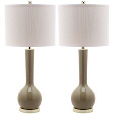 "Mae Long Neck 30.5"" H Table Lamp with Drum Shade (Set of 2)"
