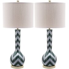 Chevron 1 Light Long Neck Table Lamp (Set of 2)