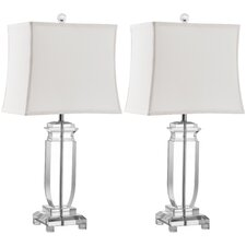 """Olympia 25"""" H Table Lamp with Rectangle Shade (Set of 2)"""