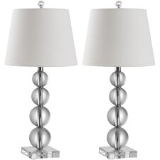 "Millie Ball 26.5"" H Table Lamp with Empire Shade (Set of 2)"