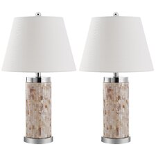 """Diana 25.5"""" H Table Lamp with Empire Shade (Set of 2)"""