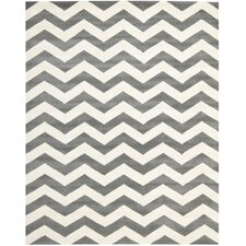 Chatham Chevron Dark Gray & Ivory Rug