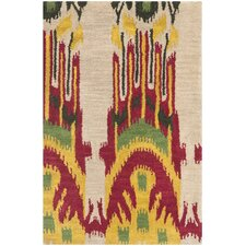 <strong>Safavieh</strong> Ikat Beige/Yellow Rug