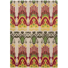 Ikat Beige/Yellow Rug