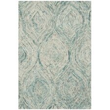 <strong>Safavieh</strong> Ikat Ivory / Sea Blue Rug