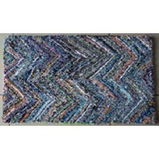 Nantucket Blue Chevron Rug