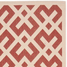 Courtyard Red / Bone Outdoor Rug