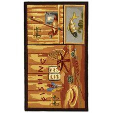 <strong>Safavieh</strong> Chelsea Gone Fishing Novelty Rug