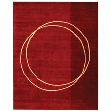 Rodeo Drive Red Circle of Life Area Rug
