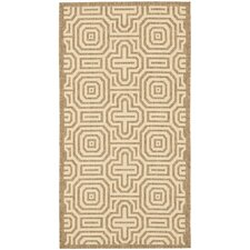 Courtyard Brown/Natural Geometric Outdoor Rug