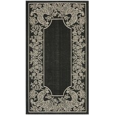 Courtyard Black/Sand Indoor/Outdoor Rug