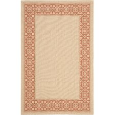 <strong>Safavieh</strong> Courtyard Cream/Terracotta Rug