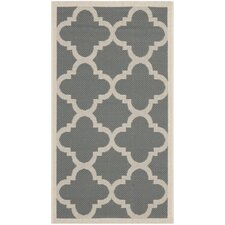 <strong>Safavieh</strong> Courtyard Grey/Beige Rug