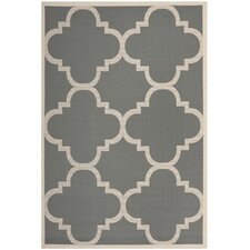Courtyard Grey/Beige Outdoor/Indoor Area Rug