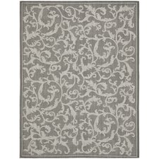 Courtyard Anthracite Light Grey Area Rug