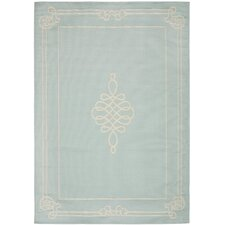 Courtyard Aqua/Cream Rug