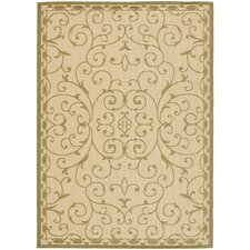 Courtyard Cream/Green Rug