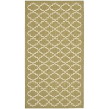 <strong>Safavieh</strong> Courtyard Green / Beige Rug