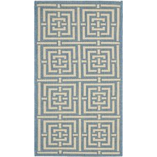 Courtyard Blue / Bone Rug