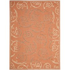 <strong>Safavieh</strong> Courtyard Terracotta/Cream Rug