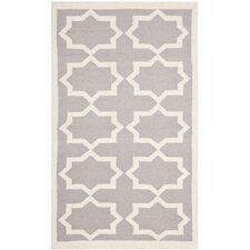 <strong>Safavieh</strong> Dhurries Grey/Ivory Rug