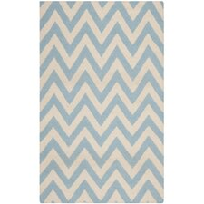 Dhurries Blue/Ivory Outdoor Area Rug