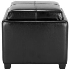 <strong>Safavieh</strong> Harrison Leather Cube Ottoman