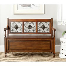 Erica Wood Storage Entryway Bench