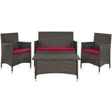 Mojavi 4 Piece Deep Seating Group with Cushions