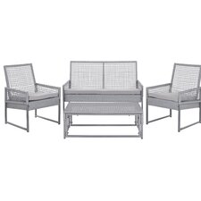 Shawmont 4 Piece Deep Seating Group with Grey Cushions