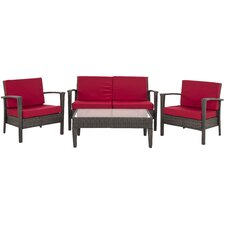 Piscataway 4 Piece Deep Seating Group with Cushions (Set of 4)